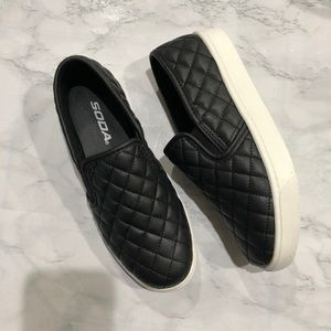 Quilted Soda Slip Ons
